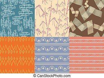 Boho Patterns - Set six different textures boho, very...