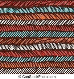 Boho seamless pattern striped