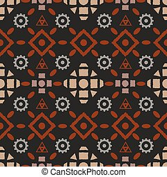 Boho tribal seamless pattern