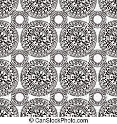 boho tribal seamless pattern - Seamless pattern boho style...