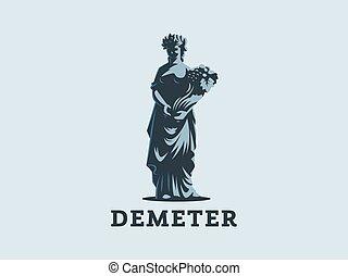 bohyně, demeter, fruit., satý