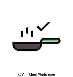 boil flat color icon