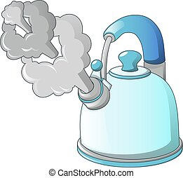 Boil kettle icon, cartoon style
