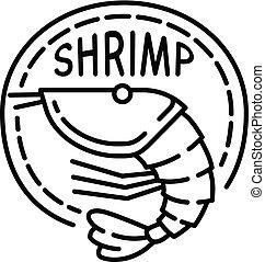 Boil shrimp icon, outline style