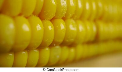 Boiled and salted corn cob dolly shot