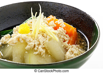 Boiled and seasoned white gourd-melon