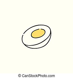 Boiled chicken egg hand-drawn icon