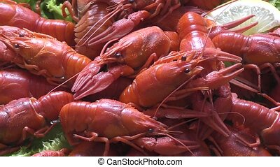 Boiled crayfish for dinner - Boiled crayfish cooked for...