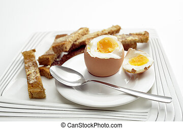 Boiled egg breakfast