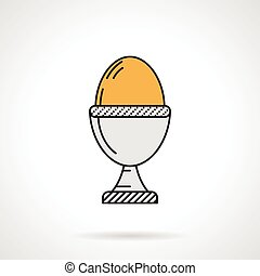 Boiled egg flat vector icon