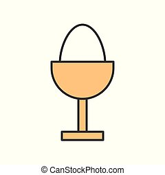 Boiled egg, Food set, filled outline icon