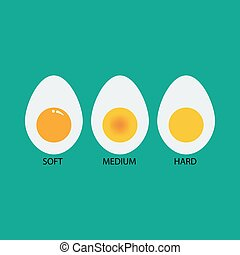 Boiled eggs illustration