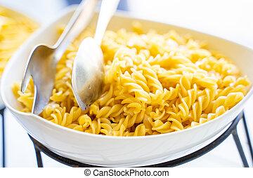 boiled pasta ingredient for italian food