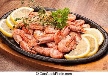 boiled shrimp with limon