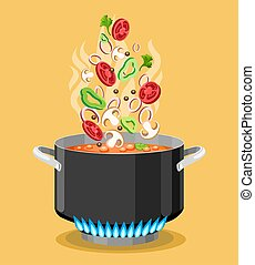 Boiled soup recipe image