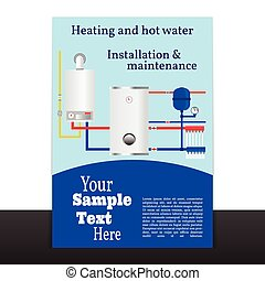 Boiler corporate identity template design .Vector.