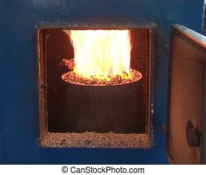 boiler fired wood pellets