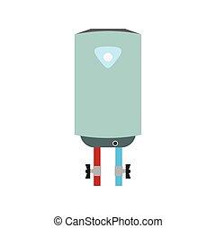 Boiler flat icon isolated on white background