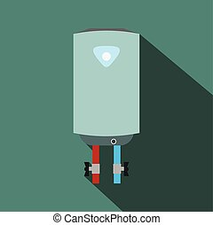 Boiler flat icon with shadow