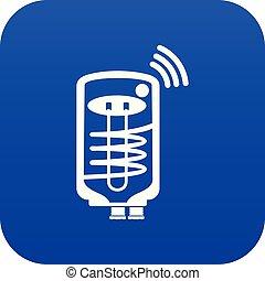 Boiler icon blue vector