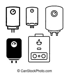 boiler icon water heater vector isolated