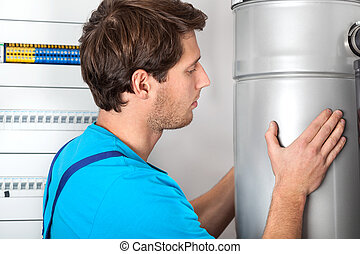 Boiler installation and handyman in boiler room