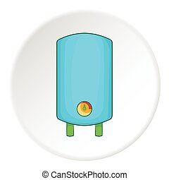 Boiler or water heater icon, cartoon style