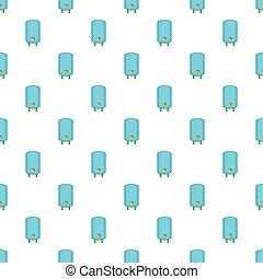 Boiler or water heater pattern. Cartoon illustration of boiler or water heater vector pattern for web