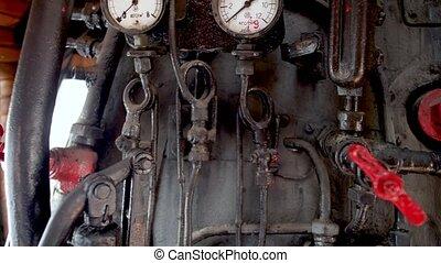 boiler, ouderwetse , kleppen, pijpen, locomotief, ...