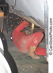 boiler, reparatur, und, wartung