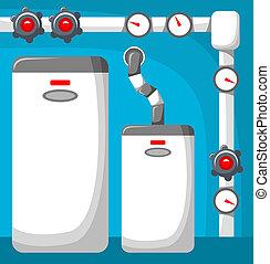 Boiler room. Vector illustration