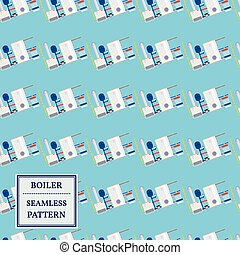 Boiler seamless pattern design. Vector.