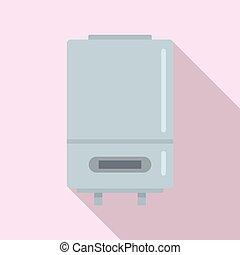 Boiler technology icon. Flat illustration of boiler technology vector icon for web design