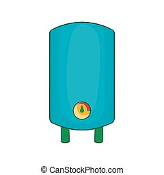 Boiler, water heater icon, cartoon style