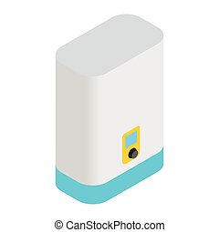 Boiler, water heater isometric 3d icon
