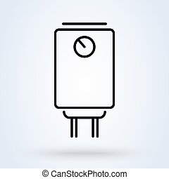 Boiler water heater line. vector Simple modern icon design illustration.