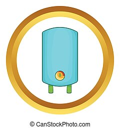 Boiler, water heater vector icon