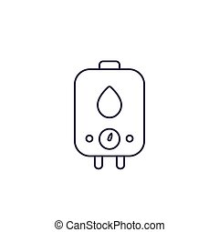 boiler, water heater, vector line icon