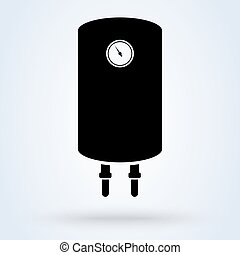 Boiler water heater. vector Simple modern icon design illustration.