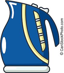 Boiling kettle icon, cartoon style