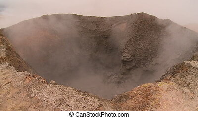 Boiling Mud Inside A Crater, Atacama, Bolivia - Close-up...