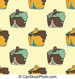 Boiling pot seamless pattern
