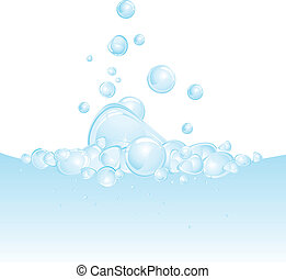 Boiling water vector background