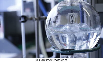 boiling water in chemistry lab