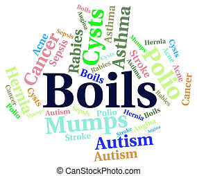 Boils Word Indicates Ill Health And Afflictions