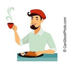 boina, francés, tradicional, sabroso, desayuno, tiene,...
