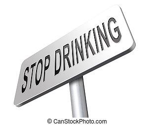 boire, arrêt