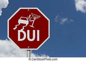 boire, arrêt, route, conduite, signe