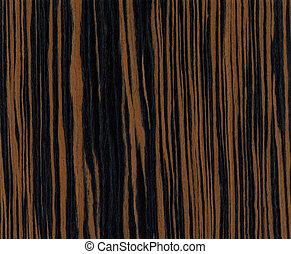 bois, ébène, texture