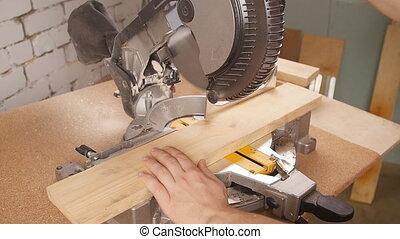 bois, électrique, découpage, morceau, scie, scierie, circulaire